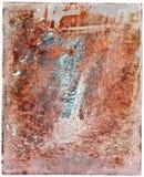 Красочная ржавая стальная пластина Стоковая Фотография RF