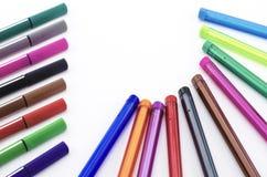 Красочная ручка изолированная на белизне Стоковое Фото