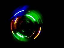 Красочная световая волна круга в темной предпосылке Стоковая Фотография RF