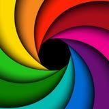 Цветастая свирль радуги Стоковые Фото