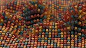 красочная сетка молекулы сети 4K иллюстрация вектора