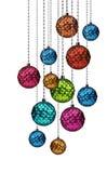 Красочная смертная казнь через повешение группы шариков рождества Стоковое Фото