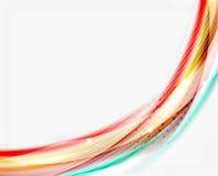 Красочная современная линия волны, план дела абстрактный иллюстрация штока