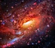 Красочная спиральная галактика в космическом пространстве Элементы этого изображения поставленные NASA стоковое фото rf
