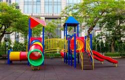 Красочная спортивная площадка детей Стоковое фото RF