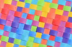 Красочная сплетенная текстура II Стоковое Фото