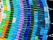 Красочная стеклянная мозаика на плитках Стоковое фото RF