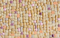 Красочная стеклянная предпосылка искусства стены мозаики Стоковые Изображения RF