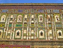 красочная стена форта Лахора, Лахора, Пакистана стоковая фотография rf