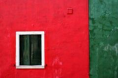 Красочная стена Burano стоковое изображение rf