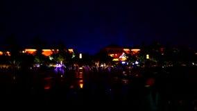красочная сцена ночи города Китая XiAn & пагоды dayan акции видеоматериалы