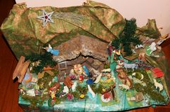 Красочная сцена рождества Стоковая Фотография