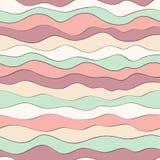 Красочная текстура волны, безшовная картина вектора для ткани моды, фоны, обои, упаковочная бумага и другое иллюстрация штока