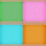 Красочная текстура карточной платы лилии воды Стоковые Изображения