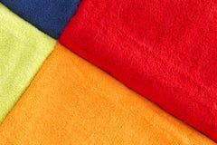 Красочная текстура предпосылки полотенец хлопка Стоковое Изображение