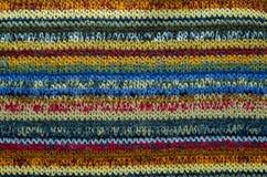 Красочная текстура ткани Knit стоковая фотография rf
