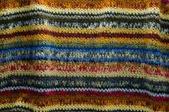 Красочная текстура ткани Knit стоковые фото