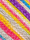 Красочная текстура тростника weave handcraft Стоковая Фотография