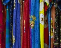 Красочная ткань батика дизайна Стоковая Фотография
