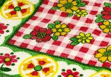 Красочная ткань таблицы Стоковые Фото