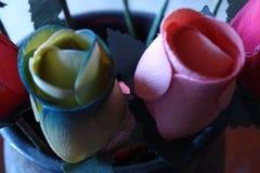 Красочная ткань цветет подробно Стоковое Изображение RF