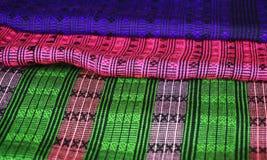 Красочная ткань Lao Стоковое фото RF
