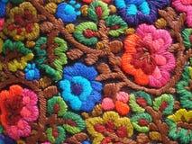 Красочная традиционная румынская вышивка Стоковые Фото