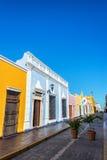 Красочная улица в Кампече, Мексика Стоковое Изображение