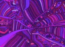 Красочная фантазия doodles линия предпосылка орнамента Винтажное оформление Стоковое Фото