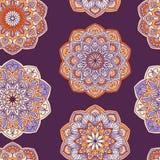 Красочная фиолетовая и оранжевая богато украшенная традиционная предпосылка Стоковые Изображения RF