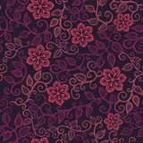 Красочная флористическая безшовная картина бесплатная иллюстрация