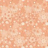 Красочная флористическая безшовная картина иллюстрация штока