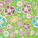Красочная флористическая безшовная предпосылка картины также вектор иллюстрации притяжки corel Стоковые Изображения