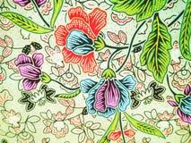 Красочная флористическая картина батика Стоковое фото RF