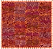 Красочная циновка с картиной и краем grunge striped волнистой иллюстрация штока