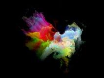 Красочная частица облака фрактали Стоковое Фото