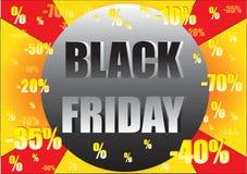 Красочная черная реклама продажи пятницы Стоковое Фото