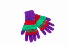 Красочная шерстяная перчатка Стоковое Фото