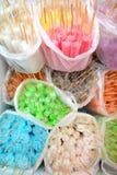 Красочная шипучка льда в полиэтиленовом пакете Стоковое Фото