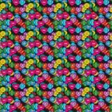 Красочная шить картина кнопок безшовная вектор Стоковые Фотографии RF
