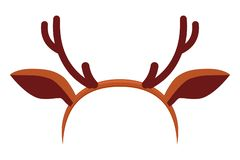 Красочная шляпа antler северного оленя шаржа иллюстрация вектора