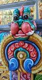 Красочная штукатурка попечителя льва виска Mahamariamman на дороге Бангкоке Silom, известно вызванная как Wat Khaek, висок devi У Стоковые Фотографии RF
