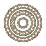 Красочная этническая мандала - элемент вектора оформления Стоковое фото RF