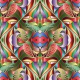 Красочная яркая абстрактная картина Пейсли безшовная Geomet вектора иллюстрация штока