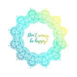 Красочная яркая мандала на белой предпосылке Зашнуруйте орнамент в форме круглой рамки в восточном стиле Стоковые Фотографии RF