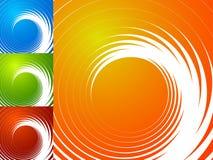 Красочная яркая спирально предпосылка Спираль, предпосылка s вортекса Стоковое Изображение