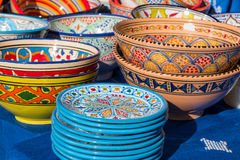Красочная handmade керамическая гончарня стоковое изображение