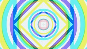 Красочная kaleidoscopic анимация закрепляет петлей бесконечно - большой для предпосылок вебсайта Галлюциногенная анимация калейдо иллюстрация штока