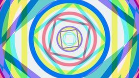 Красочная kaleidoscopic анимация закрепляет петлей бесконечно - большой для предпосылок вебсайта Галлюциногенная анимация калейдо бесплатная иллюстрация