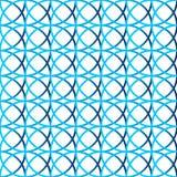 Красочная repeatable предпосылка с пересекая кругами Seamle Стоковое Фото